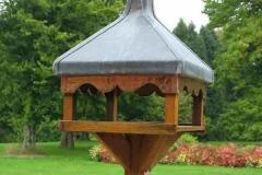 Copper Birdhouse in Oak, Lead , and copper