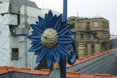 A replacement sunfowerflower for the roof of the Royal Infirmary in Cardiff, as part of the extensive renovation project
