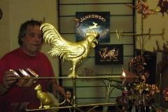 Cockerel Weathervane in 23 carat gold
