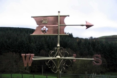 Hampshire-arms-banner-weathervane one of the oldest style of weathervanes