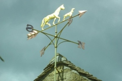 Gold Leaf Horse and Hound Weathervane