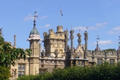 Renovation to one of Knebworth House's Weathervanes, Hertfordshire, England