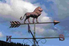 Lion copper Weathervane Standing proud the king of the jungle.