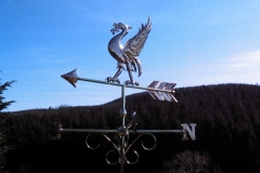 Copper Liver Bird Weathervane