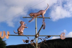 cats-weathervane they meet up when the wind blows from the west