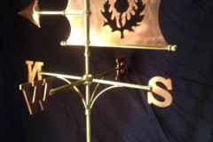 Bespoke Copper Banner Weathervane