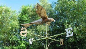 weathervane of a buzzard