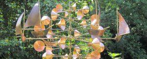 Wind sculpture sailboats