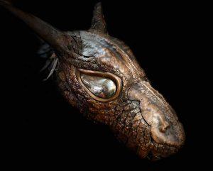 Copper dragon head