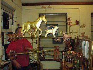 Horse and Hound weathervane