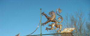 Scottish-Lion-banner weathervane