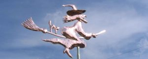 Weathervane-of-witch-and-cat-on-a-broom