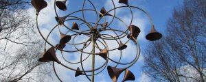 Wind sculpture multile curves